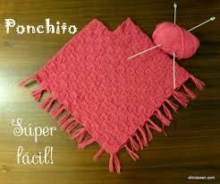ponchos a palillo ponchito tejido a dos agujas alicia s own tejidos pinterest