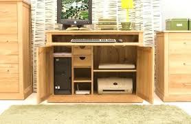 Hide Away Computer Desk Home Office Desk Solid Oak Modern Furniture Home