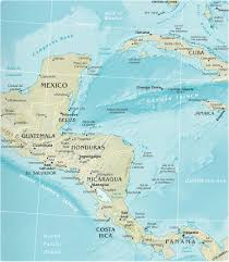 america map with rivers map of central america