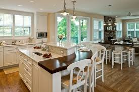 granite kitchen islands with breakfast bar kitchen traditional kitchen island rounded wood top