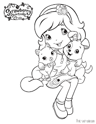 strawberry shortcake coloring pages print and color com