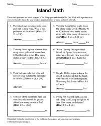 5th grade math word problems worksheets worksheets