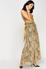 gold lace maxi dress just 5