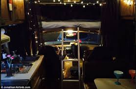 Camper Van Interior Lights New York City Tourists Can Book A Van On Airbnb For 22 Daily
