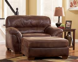 One And A Half Chair Frontier Casual Canyon Faux Leather Wood Chair And A Half The