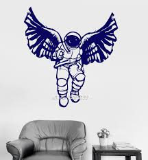 online get cheap astronaut wall decal aliexpress com alibaba group cosmonaut astronaut vinyl wall stickers space great decor for kids room wall decal available in different