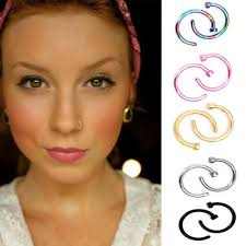 pink nose rings images 2018 factory big promotion nose hoop nose rings stainless steel jpg