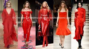 fashion inspiration color trend red fall winter 2017 2018 cool