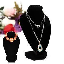 necklace pendant display images Black velvet jewelry stand bust pendant necklace bracelets pendant jpg
