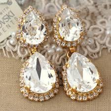 White Chandelier Earrings Shop Gold Chandelier Earrings For Wedding On Wanelo