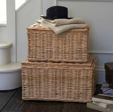 design marvelous unique wicker trunk chest basket lady from