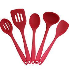 amazon com silipro premium silicone utensil set with solid nylon