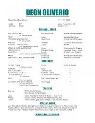 Dancer Resume Sample Good Format Of Acting Covertter Free Promissory Note Template