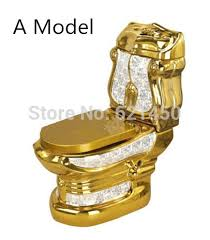 wholesaler luxury european style golden toilet mosaic gold toilet