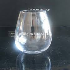 stemless wine glass egg shape glass stemless wine glass egg shape