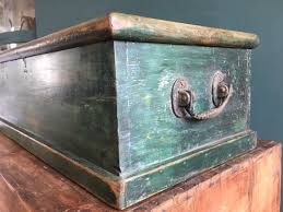 furniture antique distressed rustic wooden box chest industrial