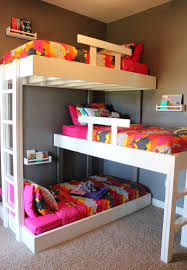 Make Wood Bunk Beds by Triple Bunk Beds With Plans Triple Bunk Beds Bunk Bed And
