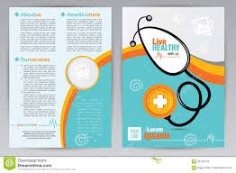 medical a4 brochure design template medical a4 both side