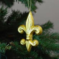 4 gold leaf fleur de lis ornament mz1611h6 mardigrasoutlet