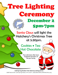 upcoming events tree lighting ceremony cold spring harbor fish