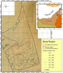 Arabian Desert Map Location Map Of The Dubai Desert Conservation Reserve Ddcr
