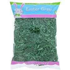bulk easter grass bulk green crinkle cut paper easter grass 2 oz bags at
