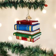 Christmas Tree Books by Amazon Com Old World Christmas Stack Of Books Glass Blown