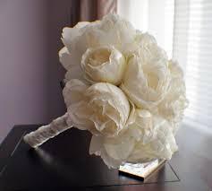 Shabby Chic Bridal Bouquet by Wedding Bouquet Peony Bridal Bouquet Silk Wedding Flowers Ivory
