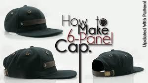 how to make snapback baseball hat youtube