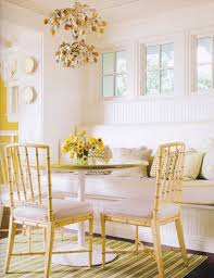 yellow kitchen table and chairs yellow and white dining room www elsaandfred com