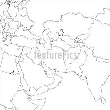 middle east map india signs and info blank middle east map stock illustration