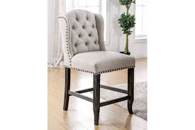 Beige Wingback Chair Furniture Of America Sania Iii Counter Height Chair Cm3324bk