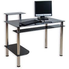 Schreibtisch Schwarz Stilista Designer Schwarz Glas Computertisch Schreibtisch Pc Büro