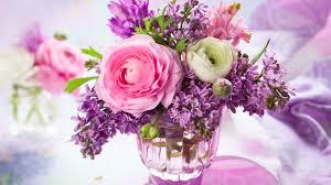 home decoration flowers home decoration flowers rose lilac vase bouquet wallpaper