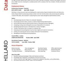 data entry resume sample with no experience writing resume