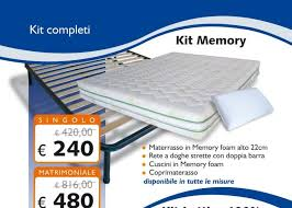 fabbrica materasso kit memory foam matrimoniale 160x190 materasso rete cuscini