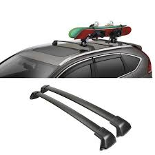 Car Top Carrier Cross Bars 2pcs Set Black Car Roof Rack Cross Bar Top 150lbs Cargo Luggage