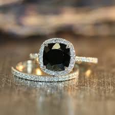 Black Diamond Wedding Ring Sets by Best 25 Black Engagement Rings Ideas On Pinterest Black Diamond
