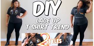 diy lace up trend 2 styles plus size fashion