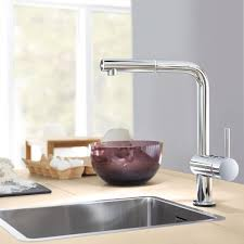 grohe minta kitchen faucet minta touch single handle pull out kitchen faucet