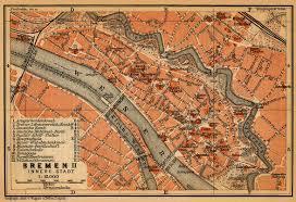 Bremen Germany Map by Bremen Inner Town 1910 Full Size