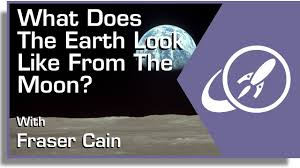 what does the earth look like from the moon
