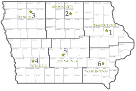 Map Of Iowa State Environmental Field Offices