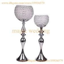 metel globe candle holders stand katrina crystal goblet 29 tall