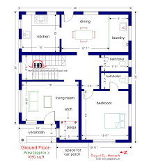 3 Bhk Home Design by Ground Floor Plan For Sq Feet With Stunning Bhk House Map
