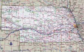 Interstate Map Of The United States by Large Detailed Roads And Highways Map Of Nebraska State With