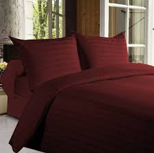 Purchase Bed Online India Buy Bed Sheets With Stripes 350 Thread Count Maroon Online In