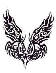 tribal wings tattoo free design ideas