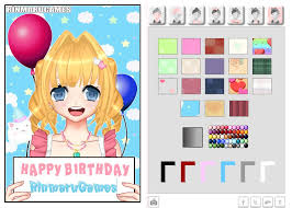 photo card maker rinmaru anime happy birthday card maker