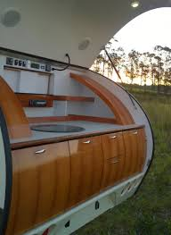 discover pint size luxury in this teardrop camper sunset
